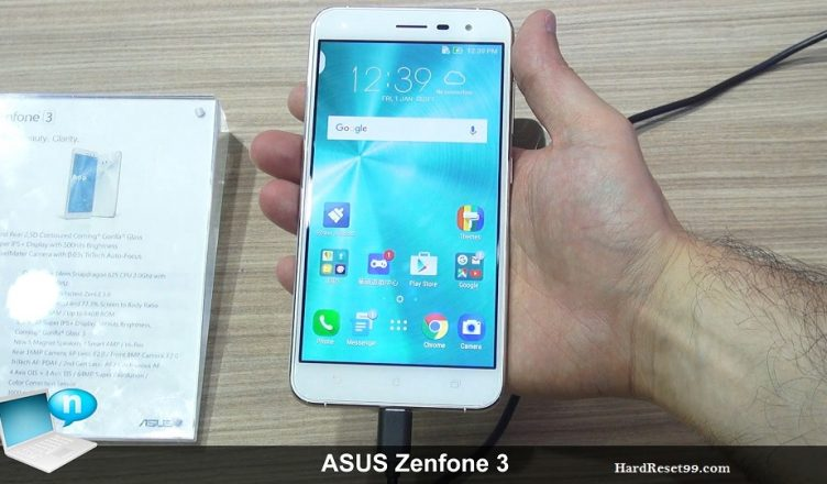 Asus ZenFone 3 ZE520KL Hard reset, Factory Reset and Password Recovery