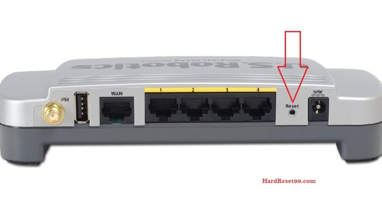 US-Robotics USR5461 Router - How to Reset to Factory Settings