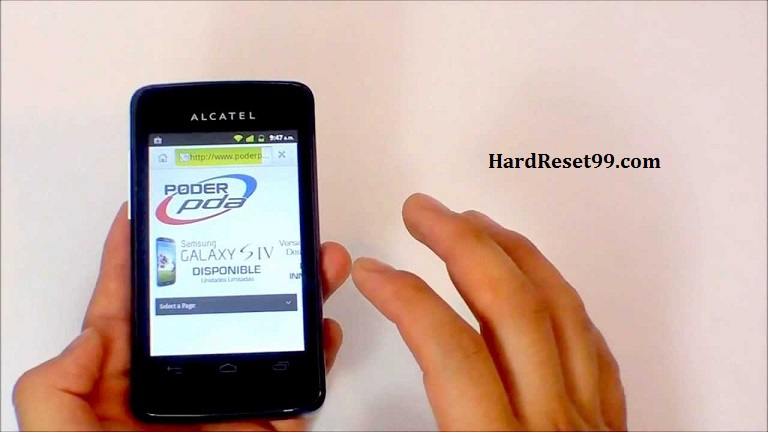 Alcatel OT 4010D Hard reset, Factory Reset and Password Recovery