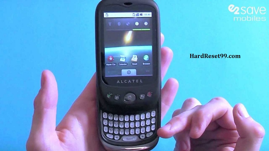 Alcatel OT 980 Hard reset, Factory Reset and Password Recovery