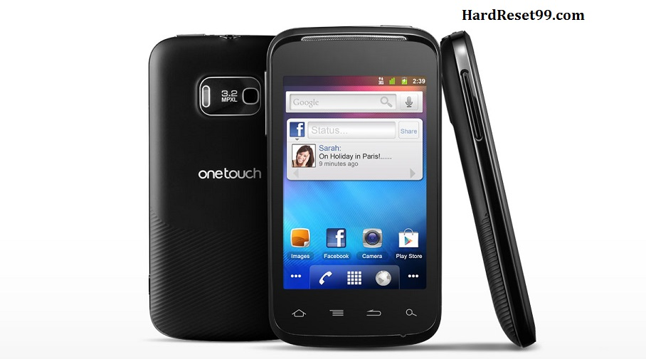 Alcatel OT 983 Hard reset, Factory Reset and Password Recovery
