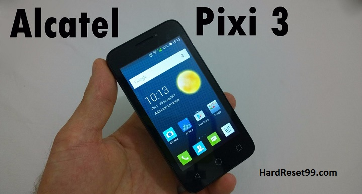 Alcatel One Touch Pixi 3 4008A Hard reset, Factory Reset and Password Recovery