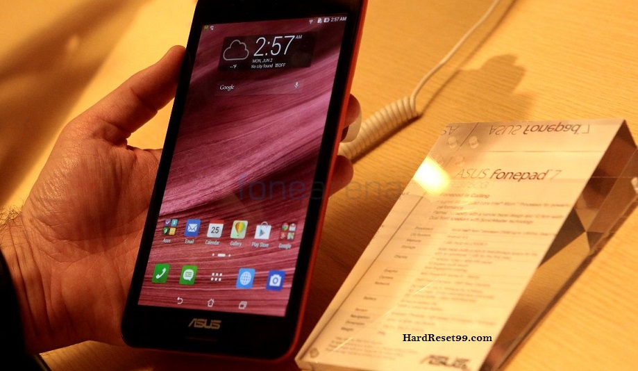 Asus Fonepad 7 FE375CG Hard reset, Factory Reset and Password Recovery