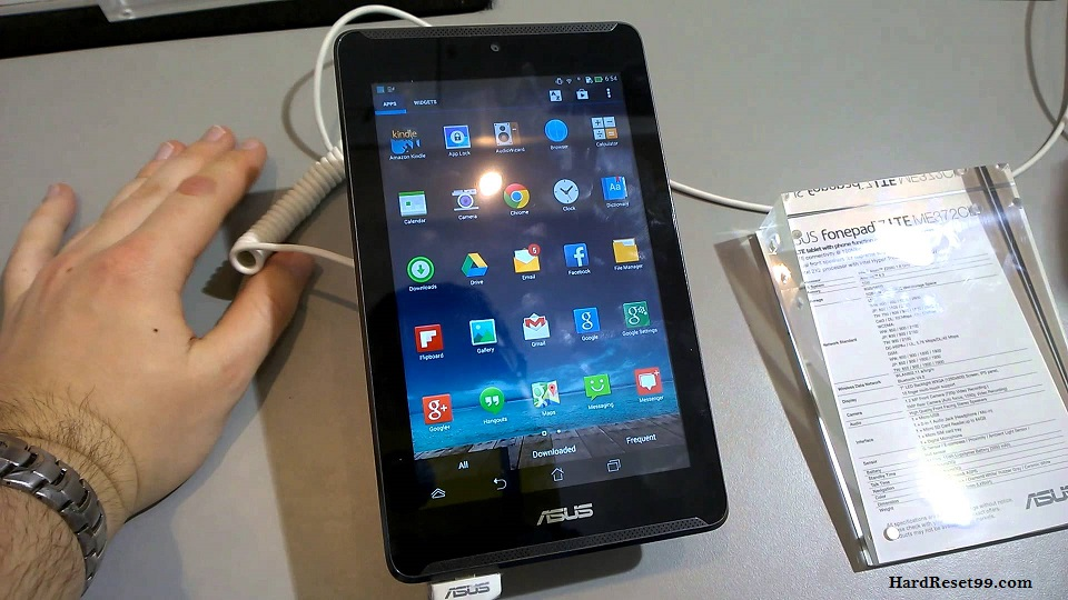 Asus Fonepad 7 ME372CL Hard reset, Factory Reset and Password Recovery