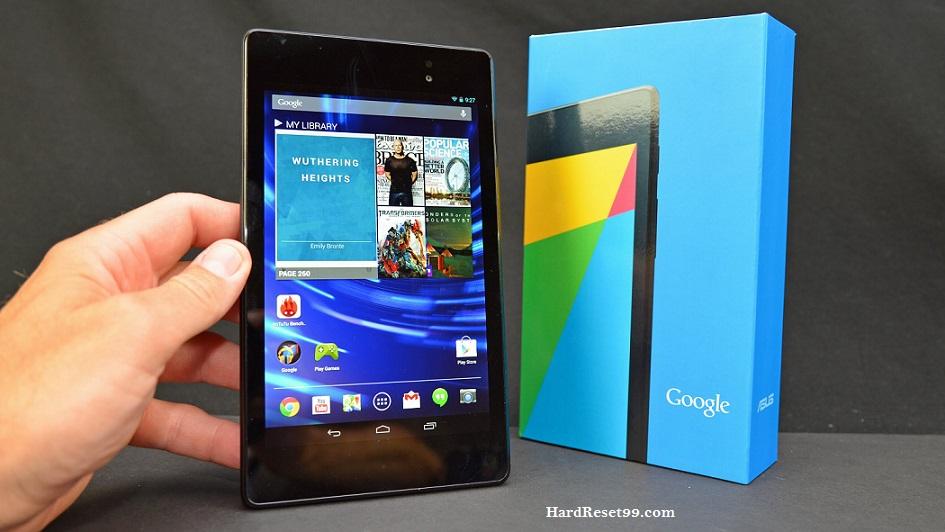 Asus Nexus 7 K008 Hard reset, Factory Reset and Password Recovery