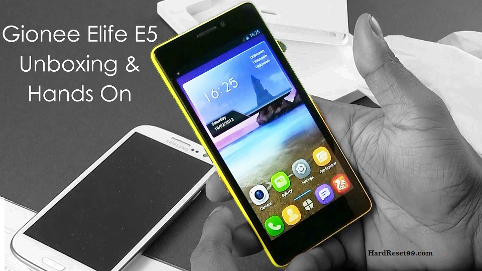 Gionee Elife E5 Hard reset, Factory Reset and Password Recovery