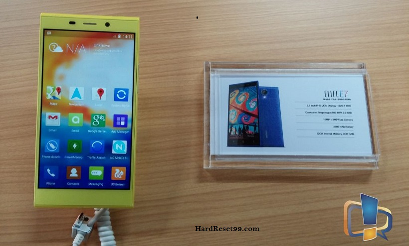 Gionee Elife E7 Hard reset, Factory Reset and Password Recovery