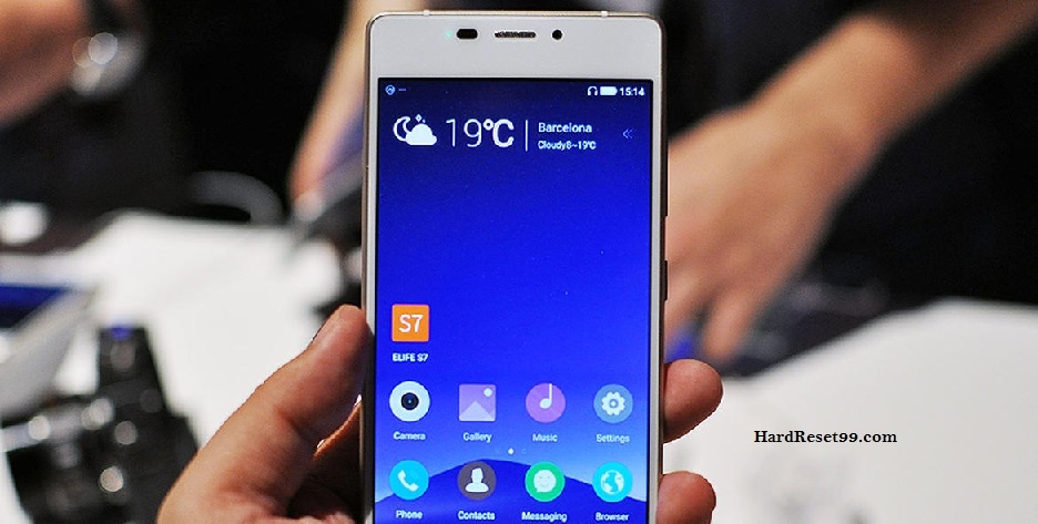 Gionee Elife S7 Hard reset, Factory Reset and Password Recovery