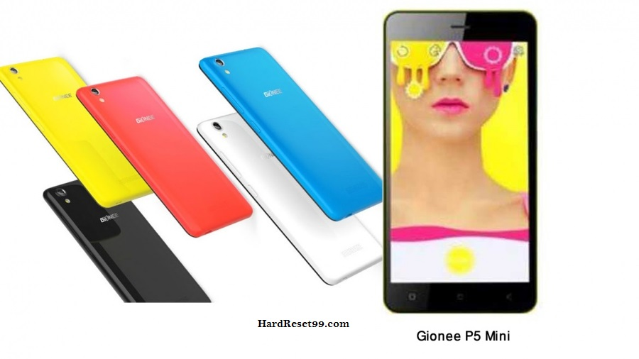 Gionee P5 Mini Hard reset, Factory Reset and Password Recovery