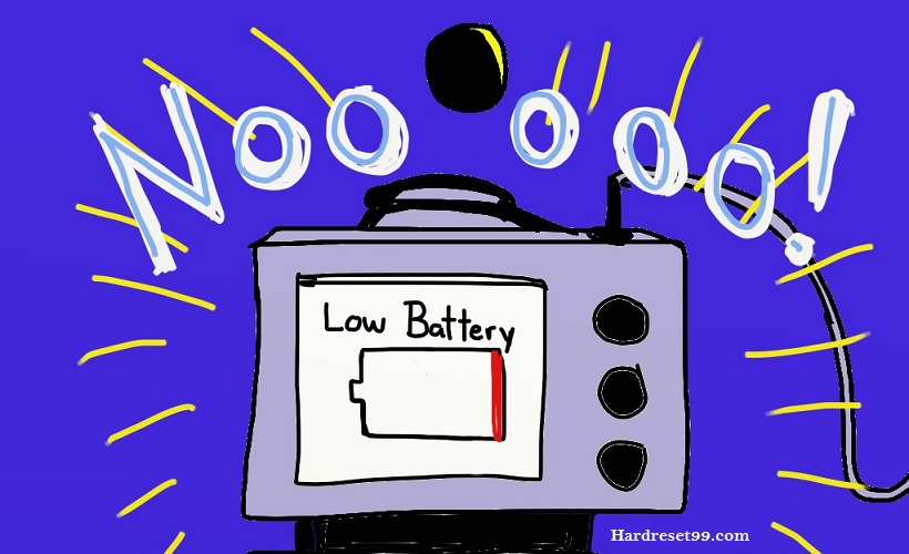 Charge your battery befire hard reset