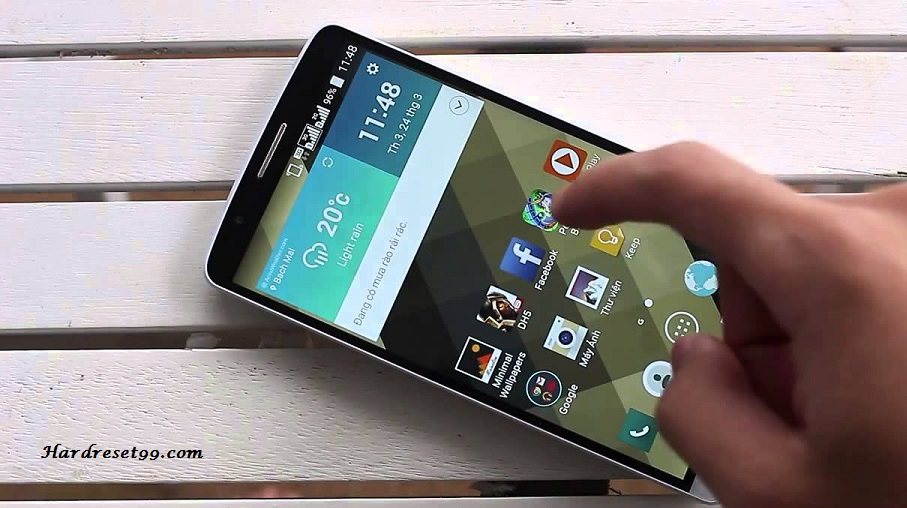 How to factory reset android lg without password
