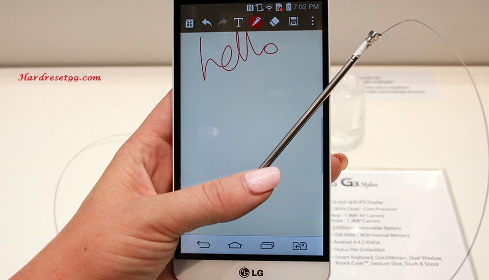 LG G4 Stylus 3G Hard reset, Factory Reset and Password Recovery