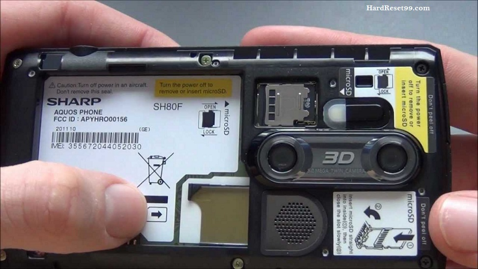 Sharp Aquos SH80F Hard reset, Factory Reset and Password Recovery