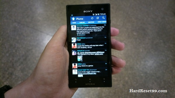 Sony Xperia Acro S Hard reset, Factory Reset and Password Recovery