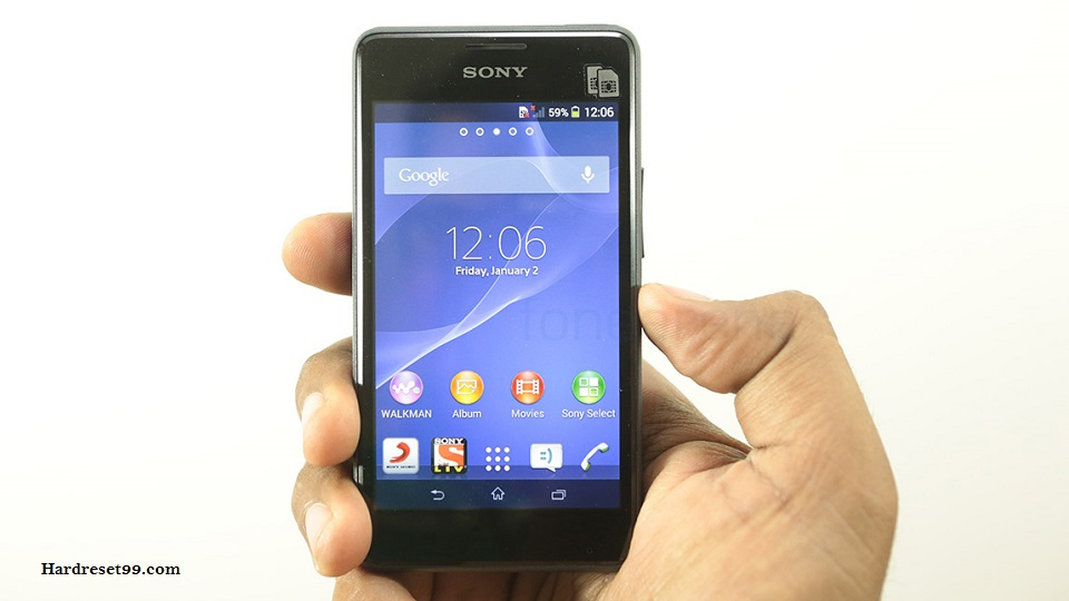 Sony Xperia E1 dual Hard reset, Factory Reset and Password Recovery