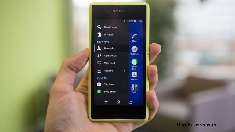 Sony Xperia E3 Dual Hard reset, Factory Reset and Password Recovery