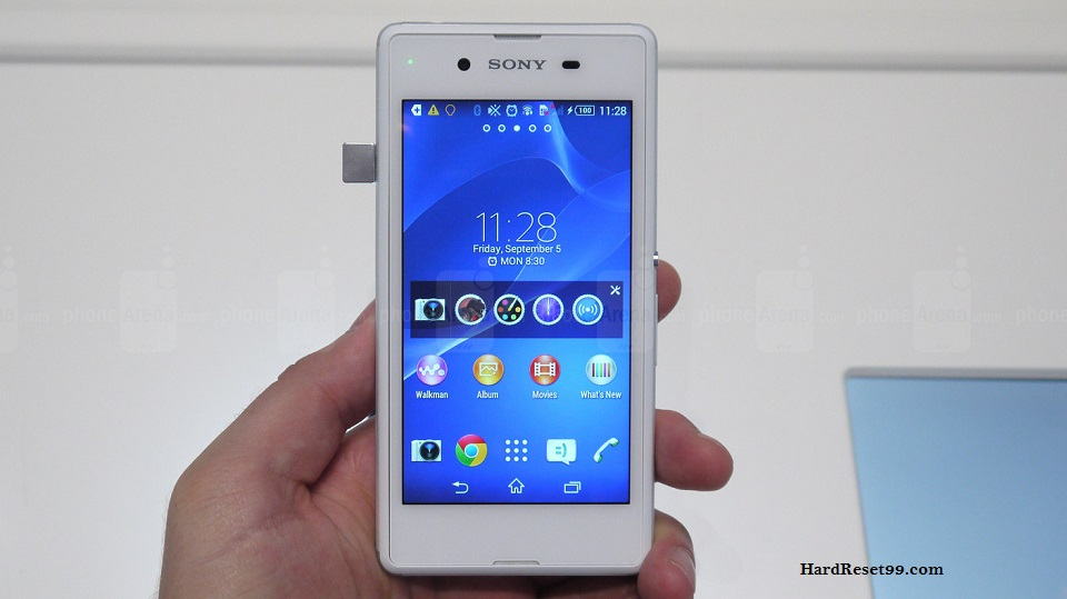 Sony Xperia E3 Hard reset, Factory Reset and Password Recovery