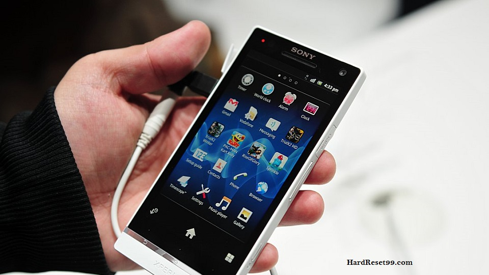 Sony Xperia S Hard reset, Factory Reset and Password Recovery
