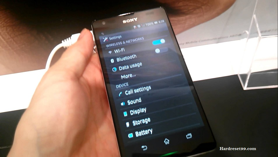 Sony Xperia UL Hard reset, Factory Reset and Password Recovery
