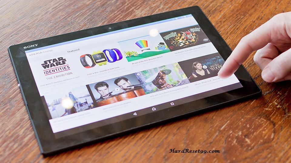 Sony Xperia Z4 Tablet Hard reset, Factory Reset and Password Recovery