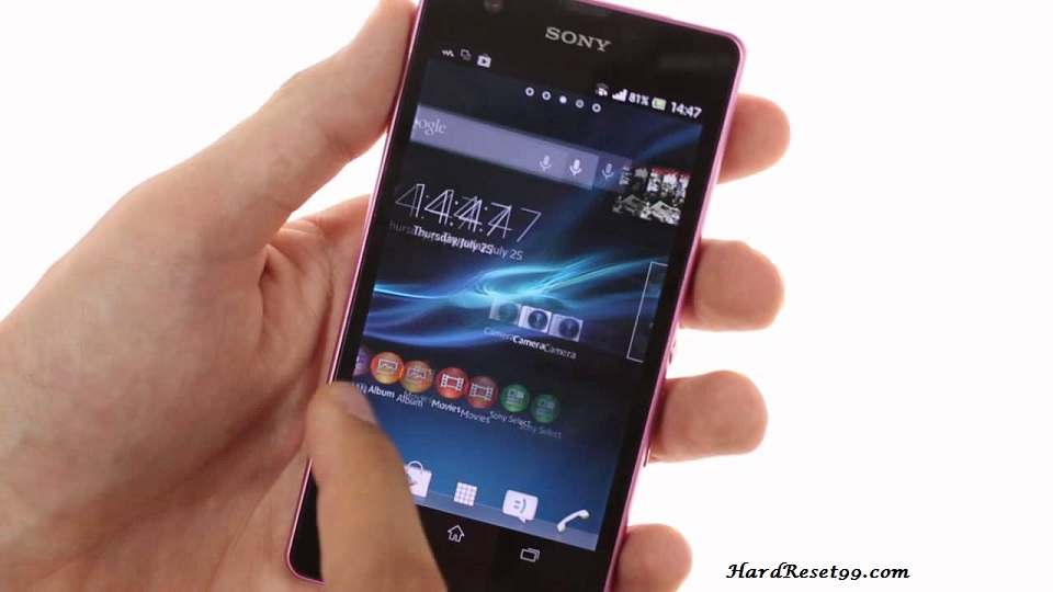 Sony Xperia ZR Hard reset, Factory Reset and Password Recovery