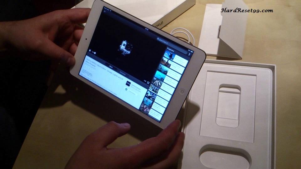 Apple iPad mini Wi-Fi 32 GB Hard Reset, Factory Reset & Password Recovery