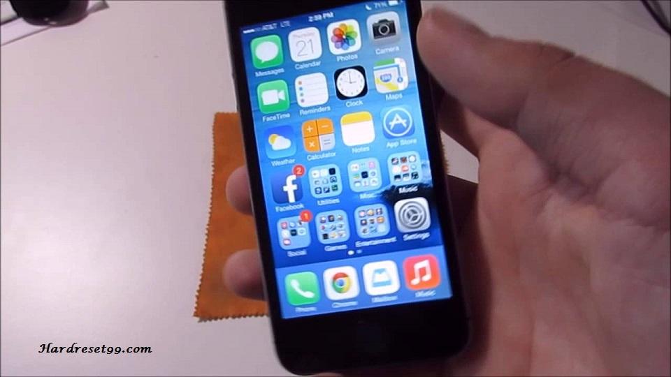 Apple iPhone 5s 32GB Hard Reset, Factory Reset & Password Recovery