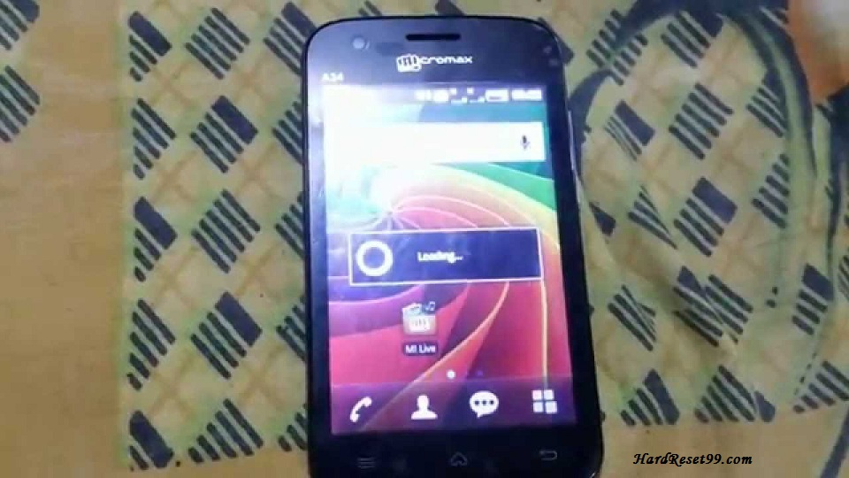 Micromax A34 Hard reset, Factory Reset and Password Recovery
