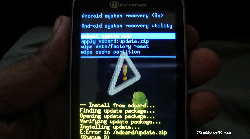 Micromax A70 Hard reset, Factory Reset and Password Recovery