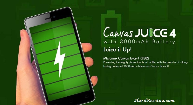 Micromax Canvas Juice 4 Hard reset, Factory Reset and Password Recovery