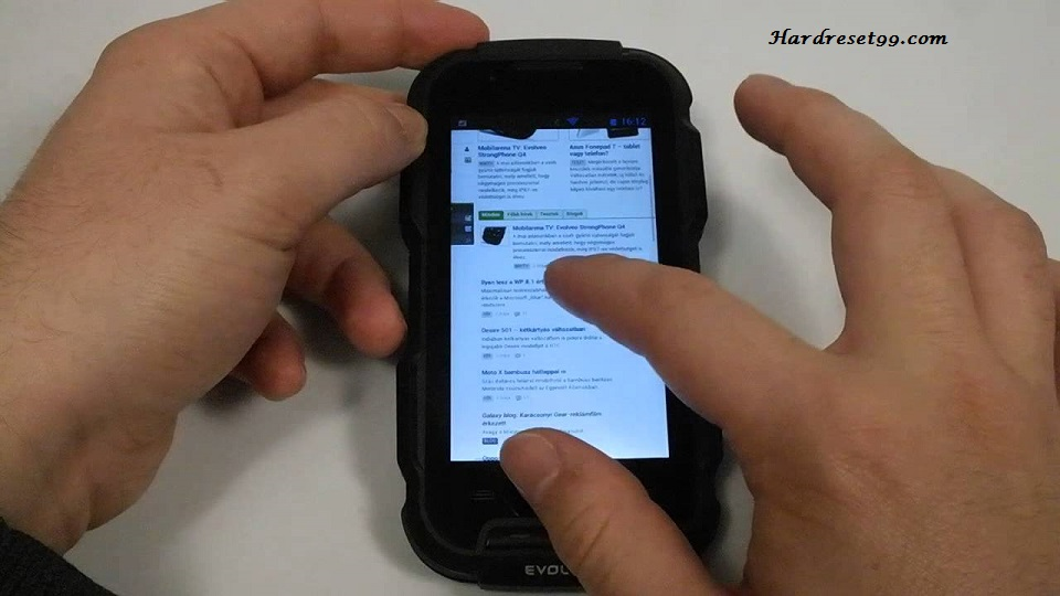 Evolveo StrongPhone D2 Hard reset, Factory Reset and