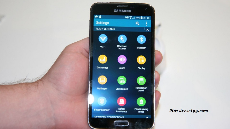 Samsung Galaxy S5 G9006V Hard reset, Factory Reset and Password Recovery