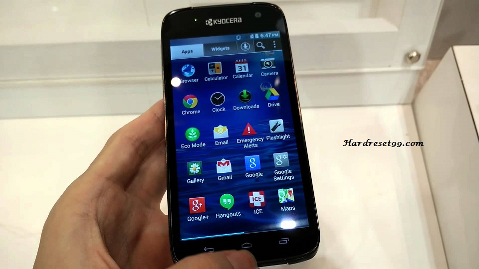 Kyocera Hydro Reach Hard reset, Factory Reset and Password