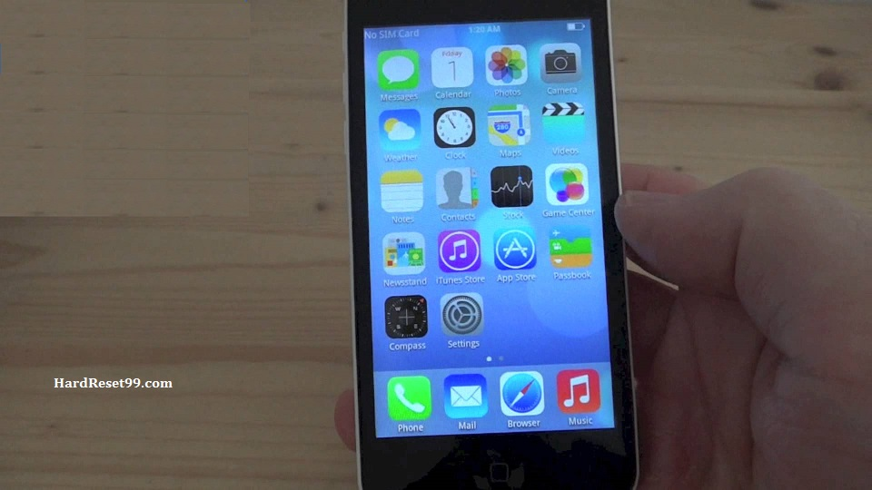No1 phone 5c Hard reset, Factory Reset and Password Recovery