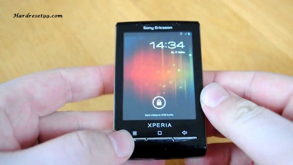 Sony Ericsson Xperia X10 mini Hard reset, Factory Reset and