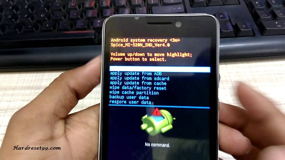 Spice X-Life 520 HD Hard reset, Factory Reset and Password Recovery