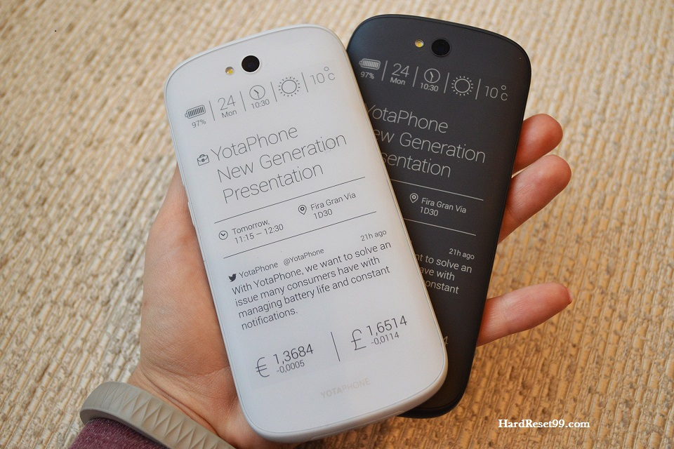 Yota Devices YotaPhone Hard reset - How To Factory Reset