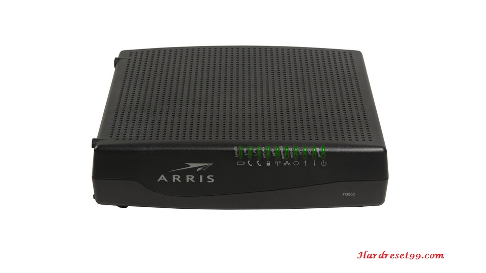 Arris TG862A Router - How to Reset to Factory Settings