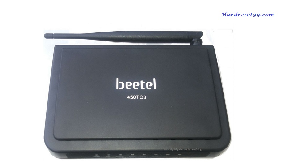 Beetel 450TC3 Router - How to Reset to Factory Settings