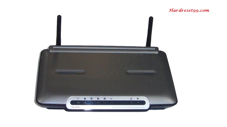 Belkin F5D7633-4 Router - How to Reset to Factory Settings