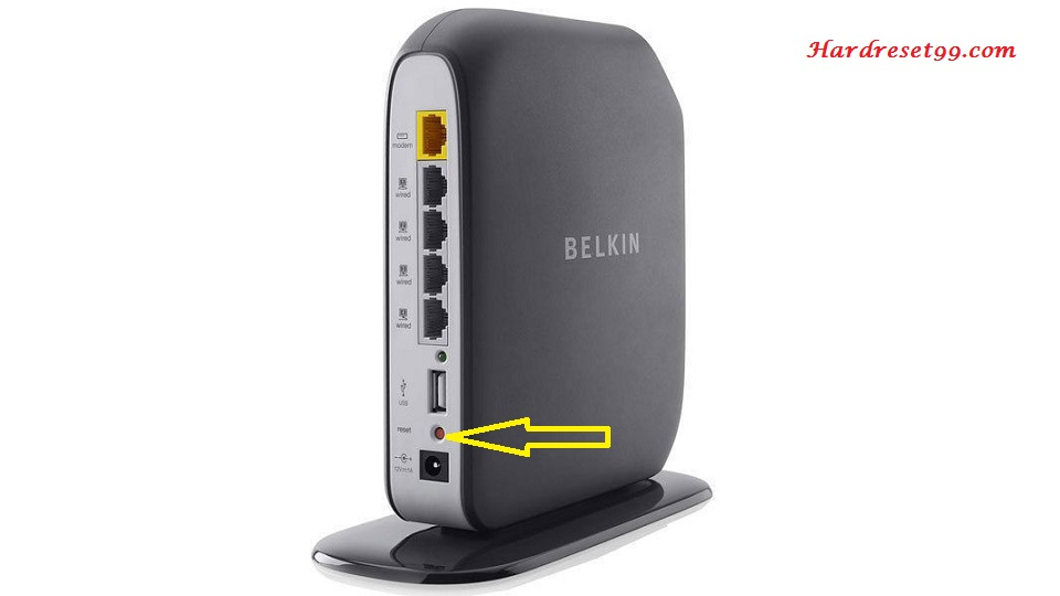 Belkin F7D4402v1 Router - How to Reset to Factory Settings