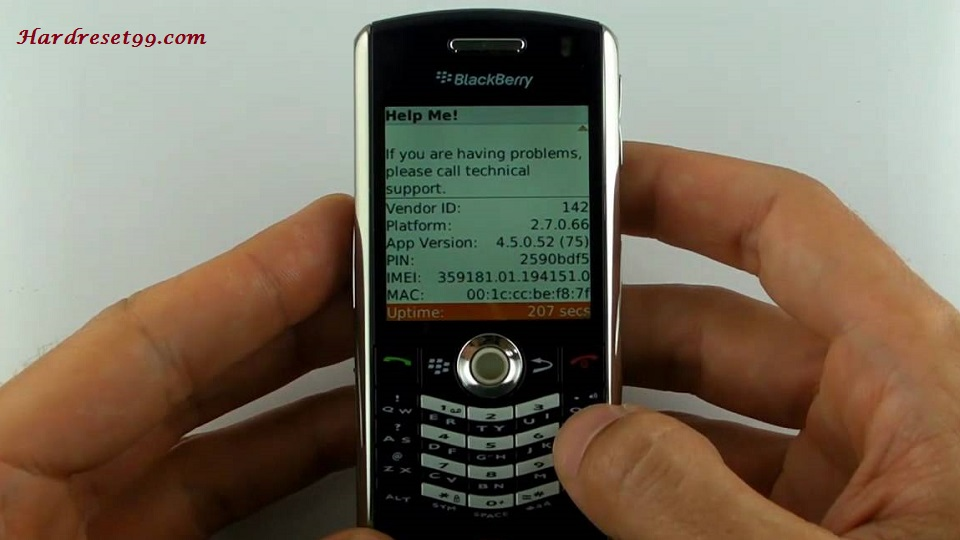 BlackBerry 7100g Hard reset - How To Factory Reset