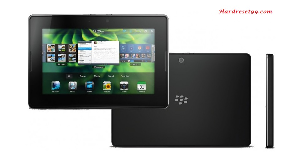 BlackBerry Playbook 4G LTE Hard reset - How To Factory Reset