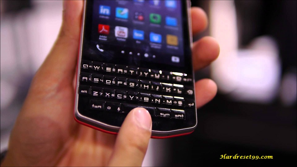 BlackBerry Porsche Design P9983 Hard reset - How To Factory Reset