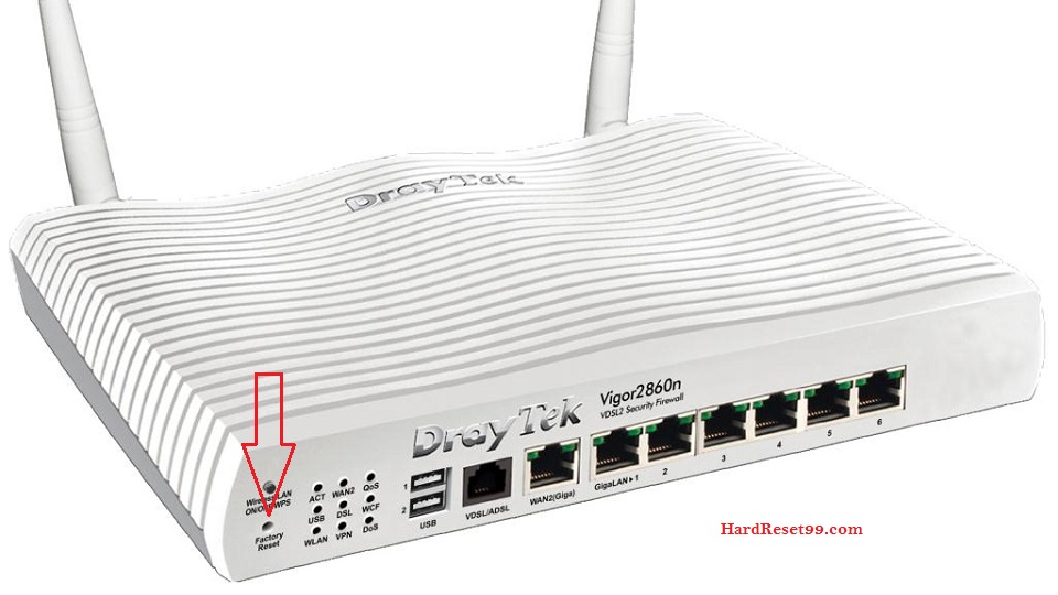 DrayTek Router Factory Reset – List