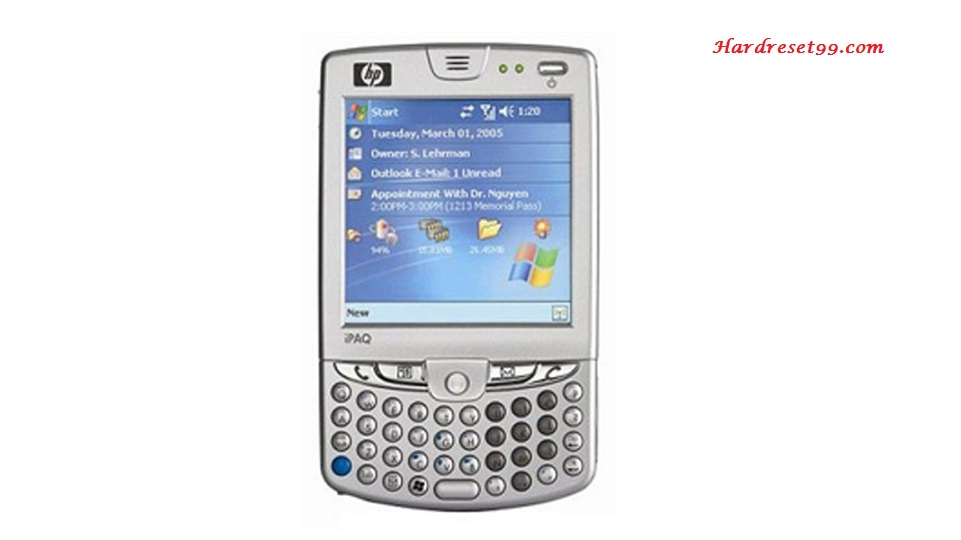 HP iPAQ hw6510 Hard reset - How To Factory Reset