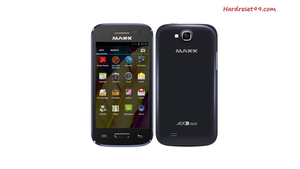 Maxx AX3 Duo Hard reset - How To Factory Reset