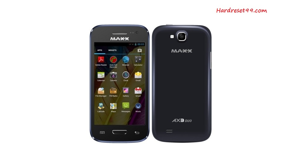Maxx AX3 Hard reset - How To Factory Reset