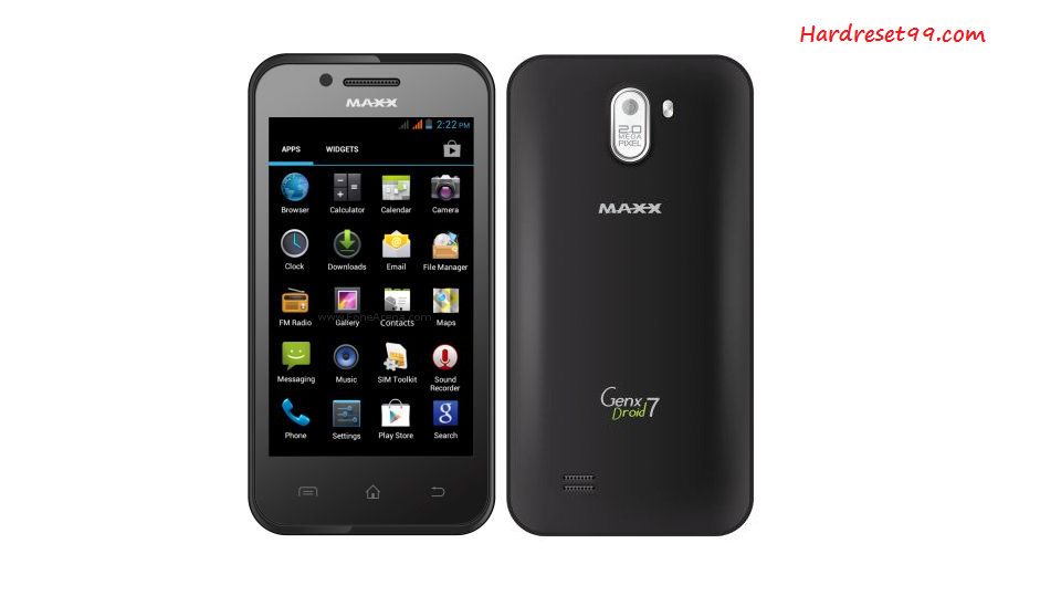 Maxx GenxDroid7 AX504 Hard reset - How To Factory Reset