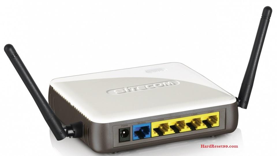 Sitecom Router Factory Reset – List